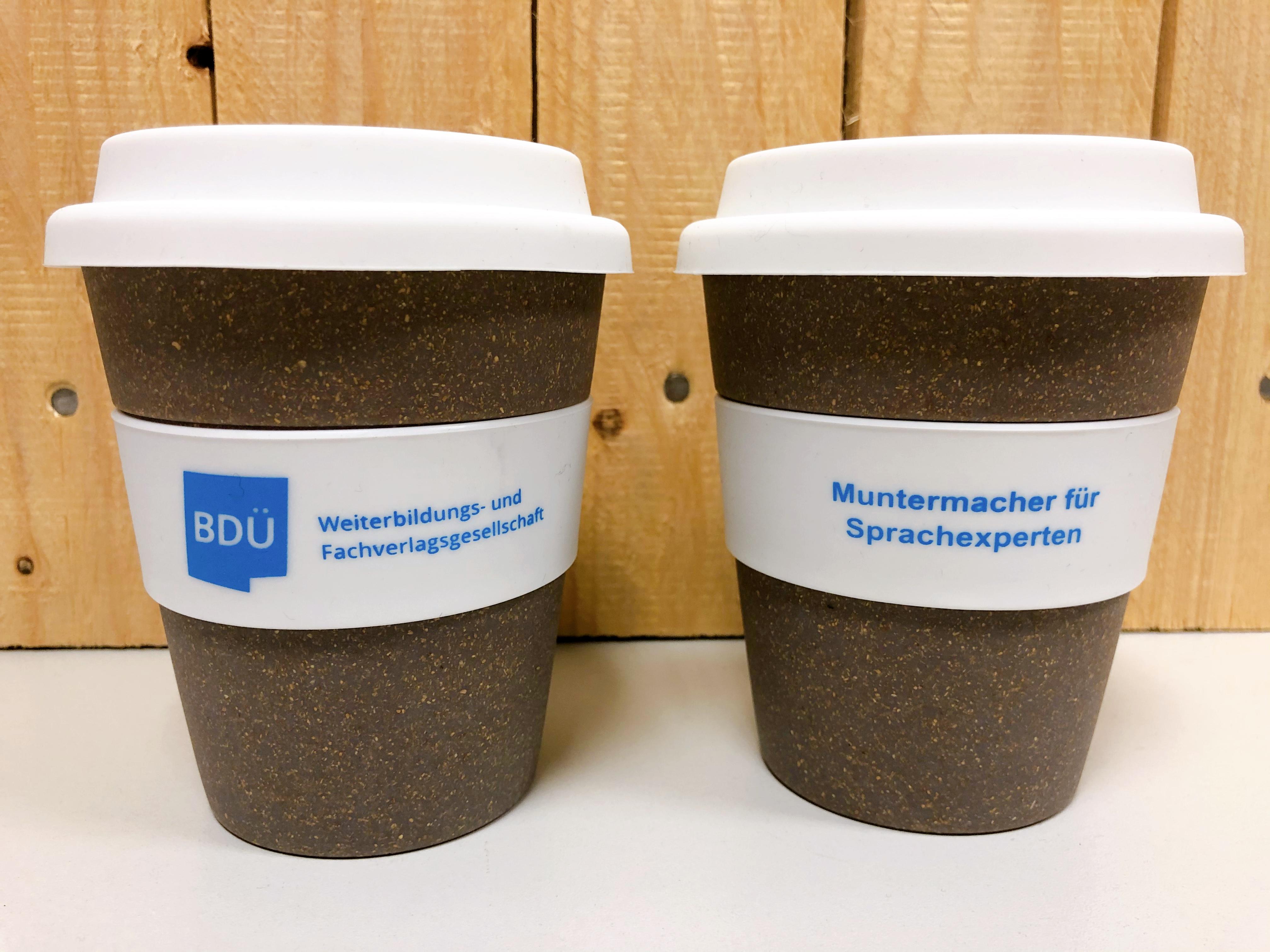 Coffee-to-go-Becher - Muntermacher für Sprachexperten